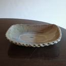 山本勘弥の白釉角鉢