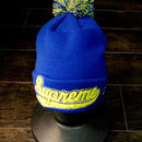 supreme (ビーニー) (ニットキャップ) ブルー