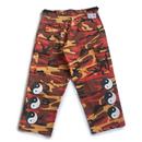YIN YANG CUT-OFF CAMO PANTS (ORANGE)