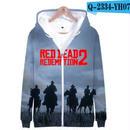 レッド・デッド・リデンプション2 コスプレ パーカー ジップアップ 3Dデザイン  Red Dead Redemption 2 logo ロゴ 風 パーカー コート ジャケット 長袖 男女兼用  4