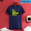 Fortnite フォートナイト ロゴ デザイン 綿100%  Tシャツ トップス  ユニセックス メンズ レディース  4