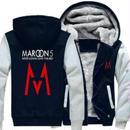 高品質 MAROON 5 マルーンファイブ  あったかいフード ジップ フリースパーカー 仮装 衣装 コスチューム 小道具 海外限定 2