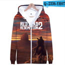 レッド・デッド・リデンプション2 コスプレ パーカー ジップアップ 3Dデザイン  Red Dead Redemption 2 logo ロゴ 風 パーカー コート ジャケット 長袖 男女兼用  6