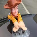 トイストーリー toy story ウッディ 車 アクセサリー ぶら下がり しがみつき  人形 20cm