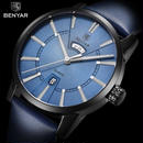 Benyar メンズ腕時計 海外トップブランド 高級ダブルカレンダー クオーツ ビジネス ファッション