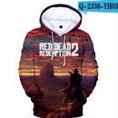 レッド・デッド・リデンプション2 コスプレ パーカー 3Dデザイン  Red Dead Redemption 2 logo ロゴ 風 パーカー コート ジャケット 長袖 男女兼用  2