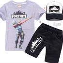 フォートナイト fortnite 子供服   Tシャツ+パンツ+キャップのセット  ユニセックス カジュアル  3