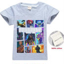 フォートナイト fortnite 子供服  プリントTシャツ ユニセックス カジュアル半袖Tシャツ トップス  グレー