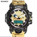 BOAMIGO スポーツウォッチ メンズ トップブランド 高級 迷彩 ミリタリー 腕時計 海外ブランド品