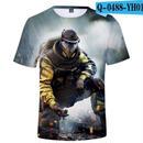 レインボーシックス シージ  ゲーミング 3Dプリント Tシャツ  半袖   Tom Clancy's Rainbow Six Siege R6S シージグッズ  4