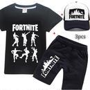 フォートナイト fortnite 子供服   Tシャツ+パンツ+キャップのセット  ユニセックス カジュアル  6