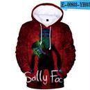 男性 女性 ゲーム sally face サリーフェイス 3Dデザイン パーカー コスプレ ジャケット  ホラー  stream ストリーム 5