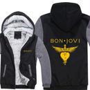 高品質  ボンジョビ Bon Jovi   あったかい フリースパーカー ジップアップ  衣装 コスチューム 小道具 海外限定  コスプレ  9