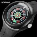 BOAMIGO 高級 トップブランド デジタル メンズ腕時計 ブラック クリエイティブ