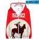 レッド・デッド・リデンプション2 コスプレ パーカー ジップアップ 3Dデザイン  Red Dead Redemption 2 logo ロゴ 風 パーカー コート ジャケット 長袖 男女兼用  5