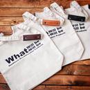 【受注生産】What Will be Will Be / レザー持ち手カバー付きコットンキャンバスバッグ
