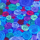 渦巻/Blue     ※15cm x 15cm