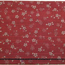 054RV-LWM-A 和柄プリント 麻の葉・小桜 リバーシブル 紅/黒(約18.5cm×12.5cm御朱印帳対応)