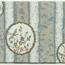 003GL-GWM-A 帯地金襴 花鳥丸紋(縦) グレー (御朱印帳約16cmx11.5cm対応)