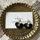 hanabira pierce/earring _ black