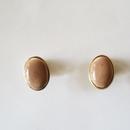 七宝ellipse_  beige pierce / earring