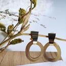 hook _ beige pierce / earring