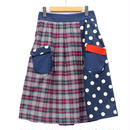 【こども服】お手伝いスカート チェック✖️ドット