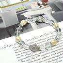 コットンパールキスカ8ミリ、水晶8ミリ、カット水晶8ミリ、ロンデル金具、透かし金具