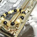 カットオニキス10ミリ、コットンパールキスカ10ミリ、ロンデル金具、透かし金具