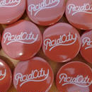ACID CITY CAN BADGE RED