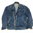 1980's デニムダブルライダースジャケット 表記42