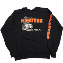 1980's〜 USA製 HOOTERS 袖プリント スウェット 黒  表記(L)