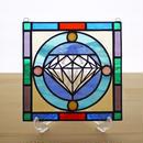 ステンドグラス ミニパネル ダイヤモンド 15cm