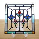 ステンドグラス ミニパネル 5つの花 15cm