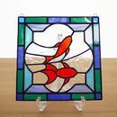 ステンドグラス ミニパネル 金魚 (ii) 15cm