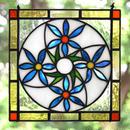 [オーダー品] ステンドグラス ミニパネル 花模様 15cm