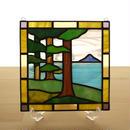 ステンドグラス ミニパネル 樹林 15cm