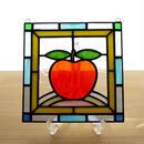 ステンドグラス ミニパネル アップル 15cm