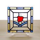 ステンドグラス ミニパネル 千鳥 15cm