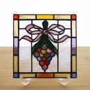ステンドグラス ミニパネル 花飾り 15cm