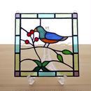 ステンドグラス ミニパネル 小鳥(ii) 15cm