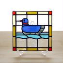 ステンドグラス ミニパネル 水鳥 15cm