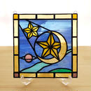 ステンドグラス ミニパネル 流星 15cm