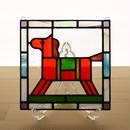 ステンドグラス ミニパネル 馬 15cm