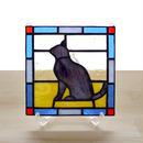 ステンドグラスパネル 猫 Mサイズ