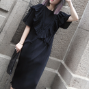 Black frill onepiece