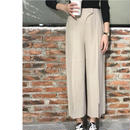 Front slit wide pants☆