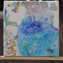 キャンバス画「クジラとうさぎ姫」