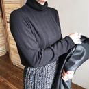 ✳︎予約販売✳︎裏起毛ハイネックTシャツ/ブラック