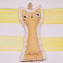 nora arin 猫チャーム 白ねこ&ゴールド猫